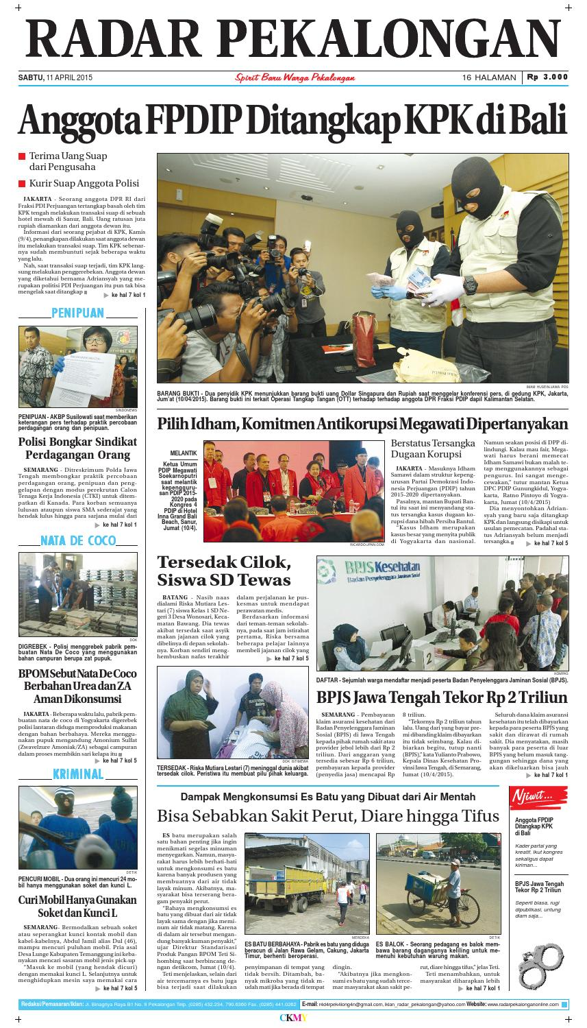 Radar pekalongan 11 april 2015 by Radar Pekalongan - issuu 41ebf1d484