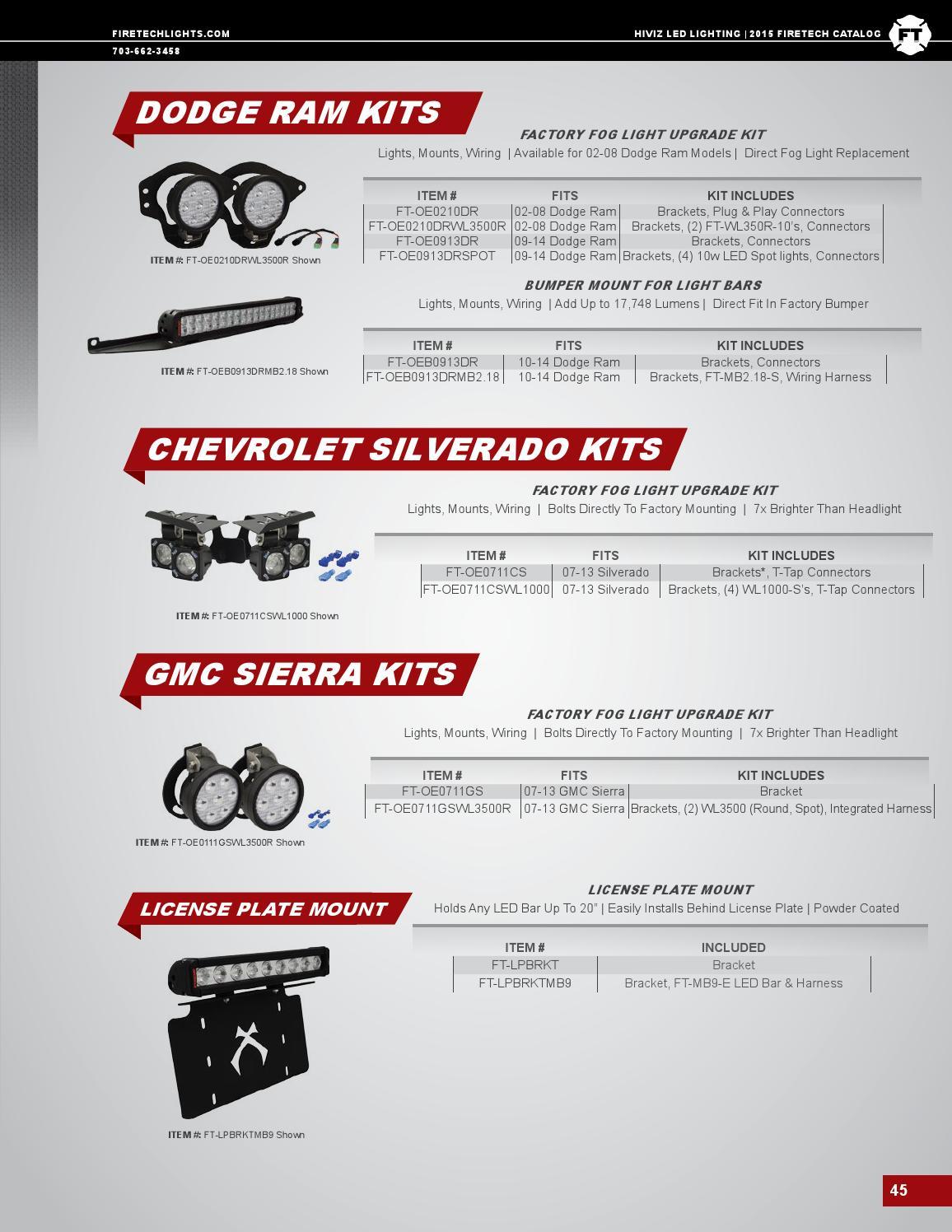 2015 Firetech Catalog By Hiviz Led Lighting Issuu Mounts Chevy Truck Wiring Harness