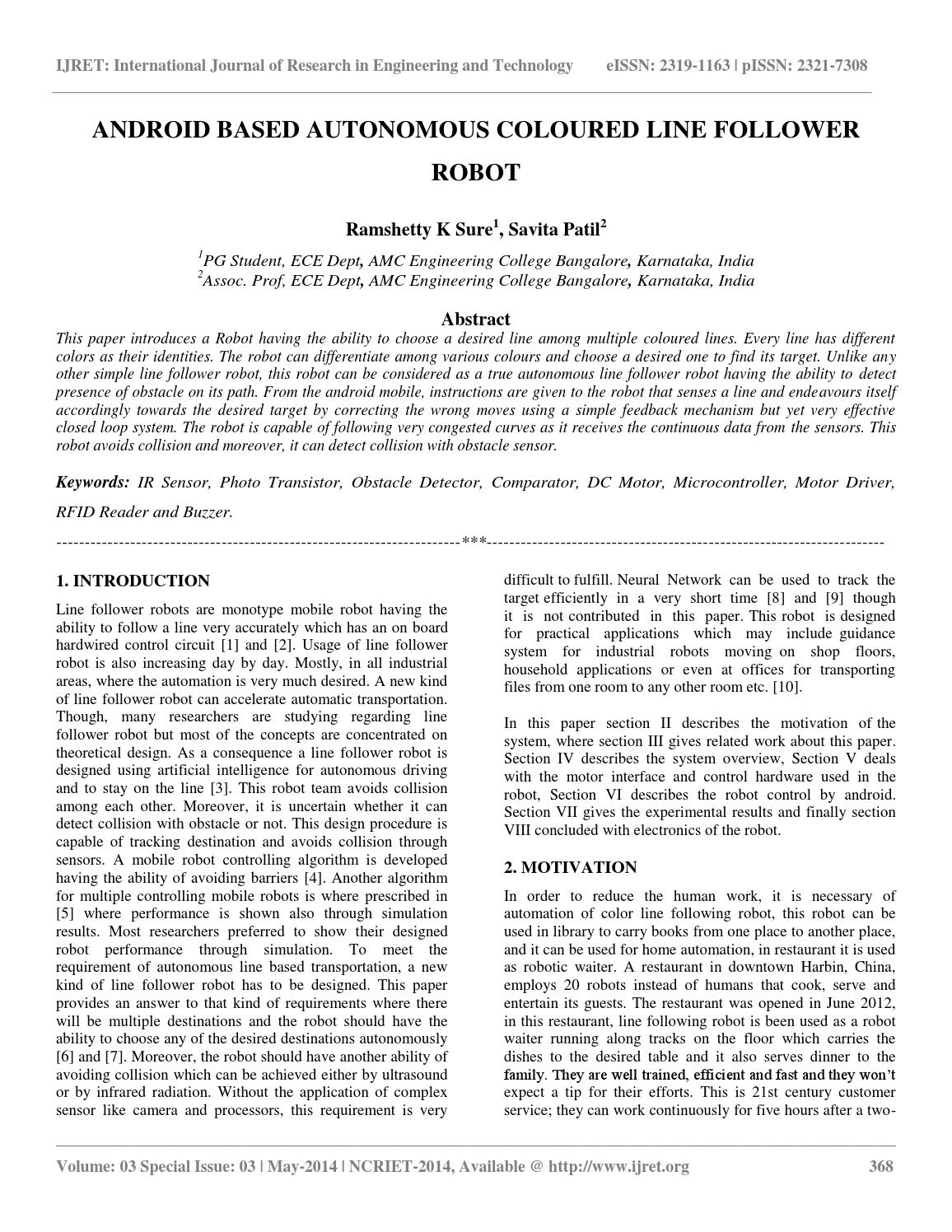 Android Based Autonomous Coloured Line Follower Robot By Esat Following Without Microcontroller Journals Issuu