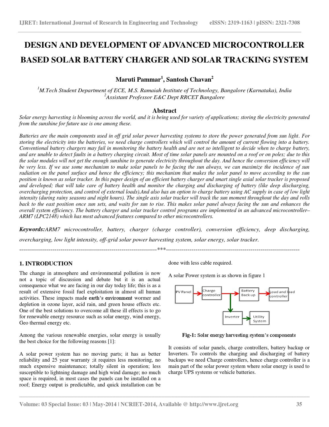 Design and development of advanced microcontroller based