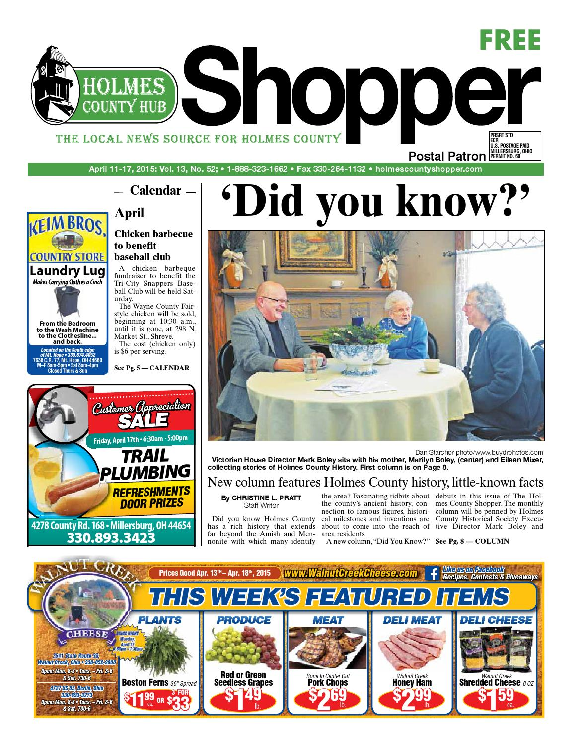 Holmes County Hub Shopper April 11 2015 By GateHouse Media NEO