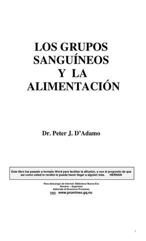 Grupos Sanguineos y Alimentación Colesterol Hepatitis Pdfdadamo ...