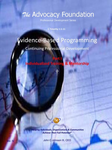 Evidence Based Programming