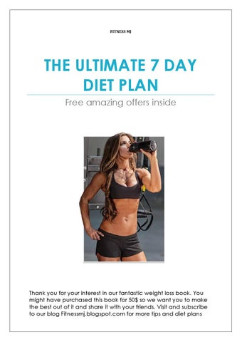 Ultimate 7 day fat loss diet plan by Manoj solanki - issuu