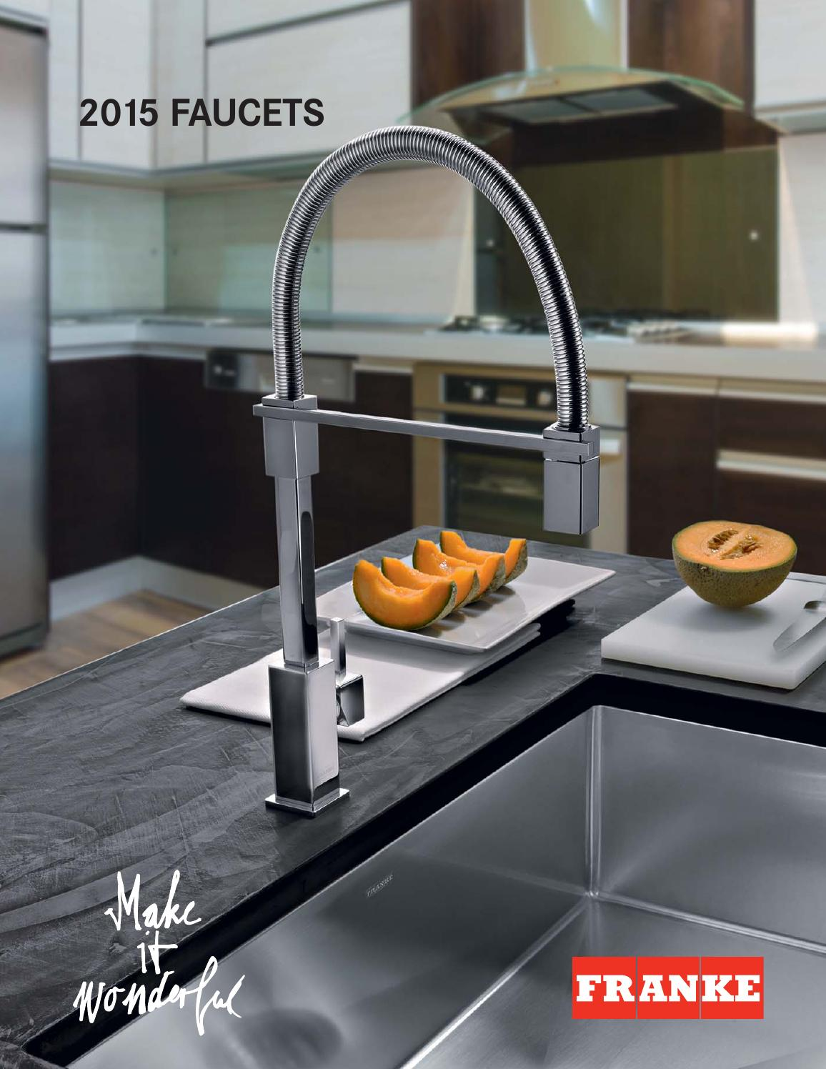 franke faucets catalog 2015 by franke kitchen systems. Black Bedroom Furniture Sets. Home Design Ideas