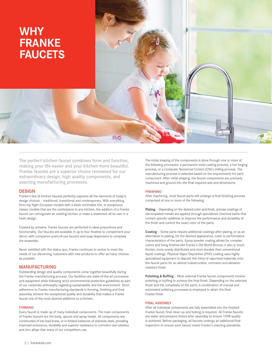 Franke Faucets Catalog 2015 By Franke Kitchen Systems Luxury
