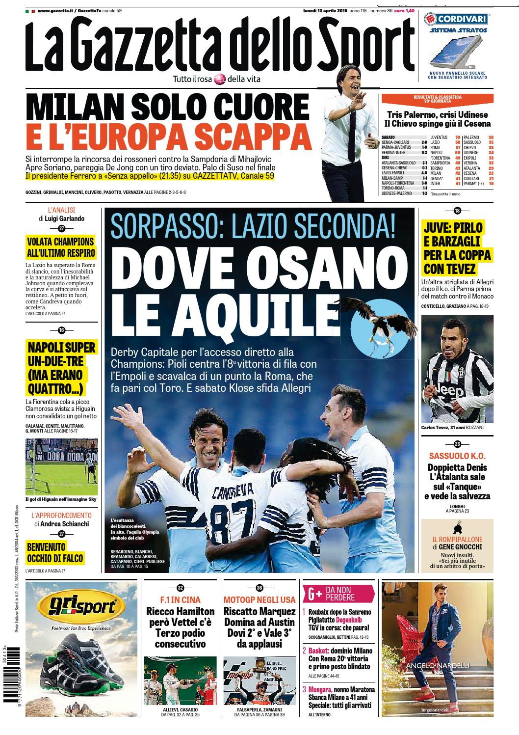 La Gazzetta Dello Sport 04 13 2015 By Nguyen Duc Thinh Issuu