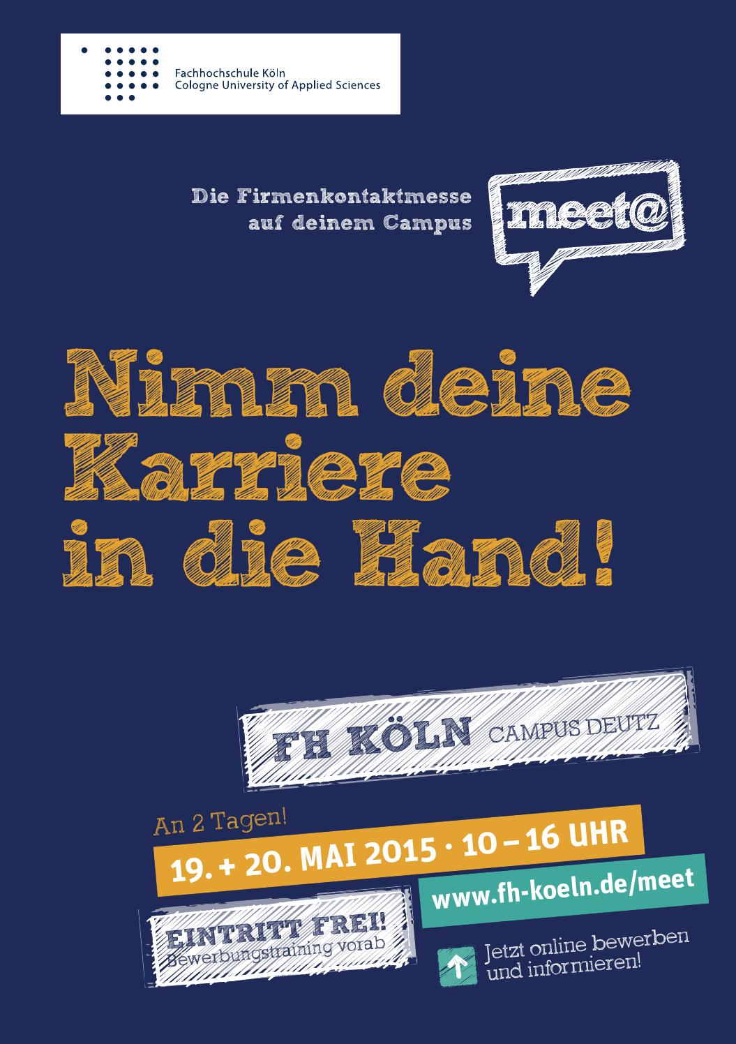 meet fh koeln messeguide by iqb career services ag issuu - Uni Koln Online Bewerbung