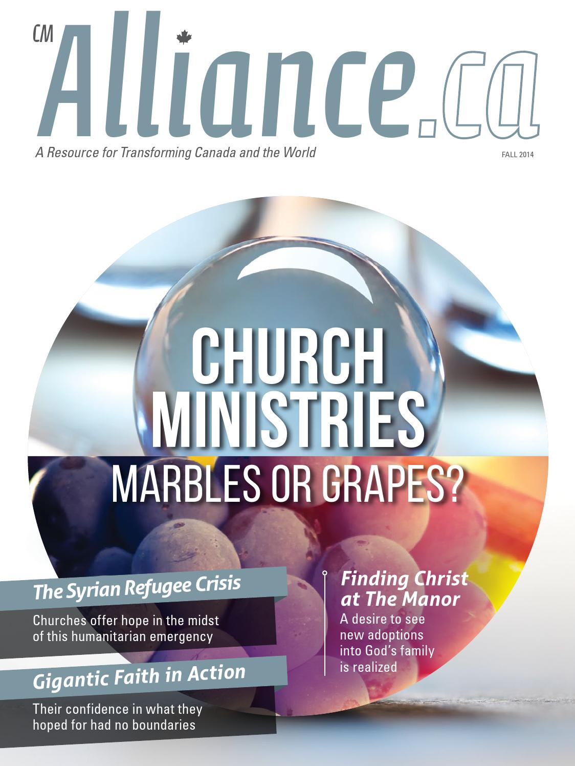 cmAlliance.ca: Fall 2014 by The Christian and Missionary Alliance in ...