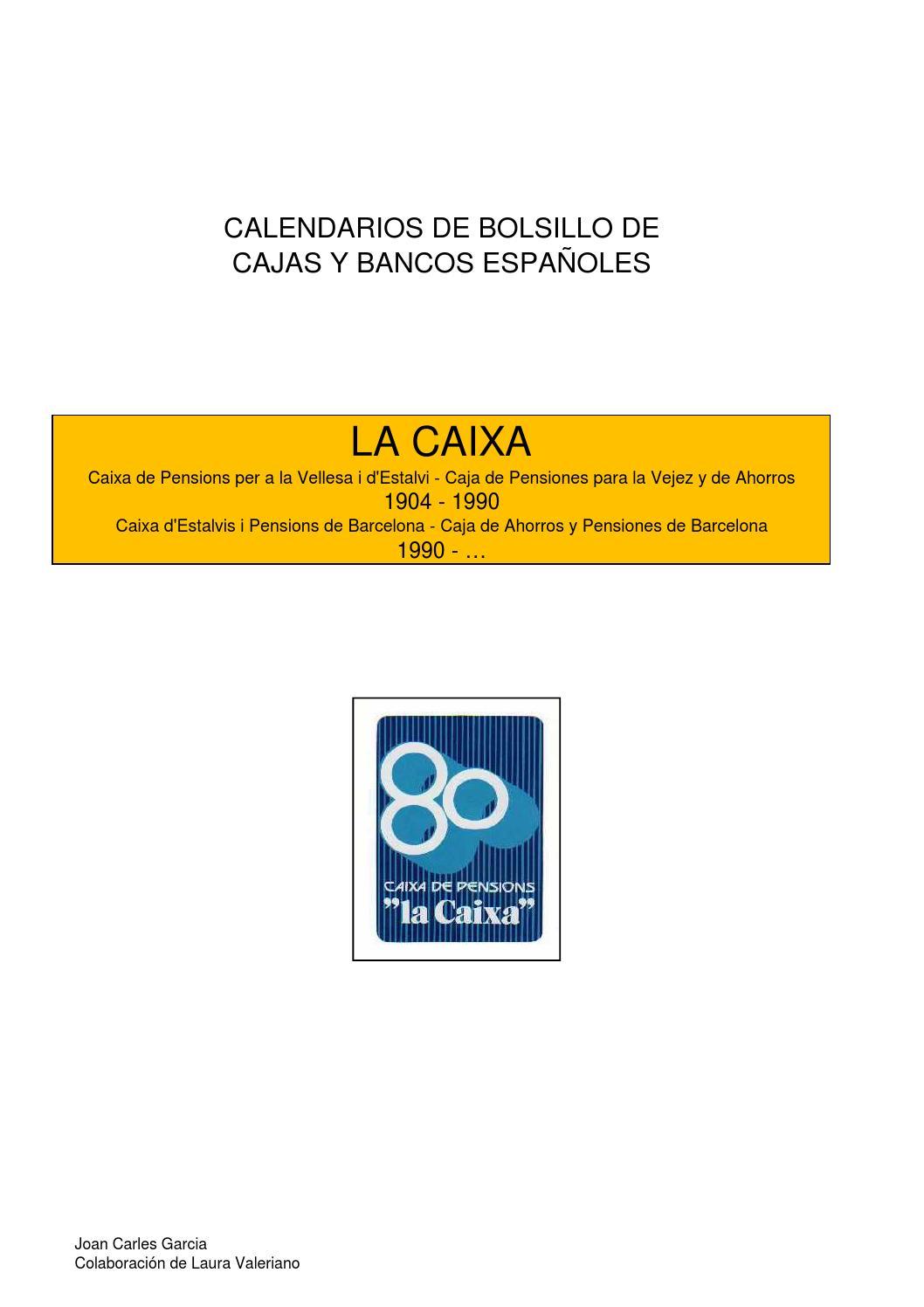 La caixa by foro tapon corona issuu - Caixa d estalvis i pensions de barcelona oficinas ...