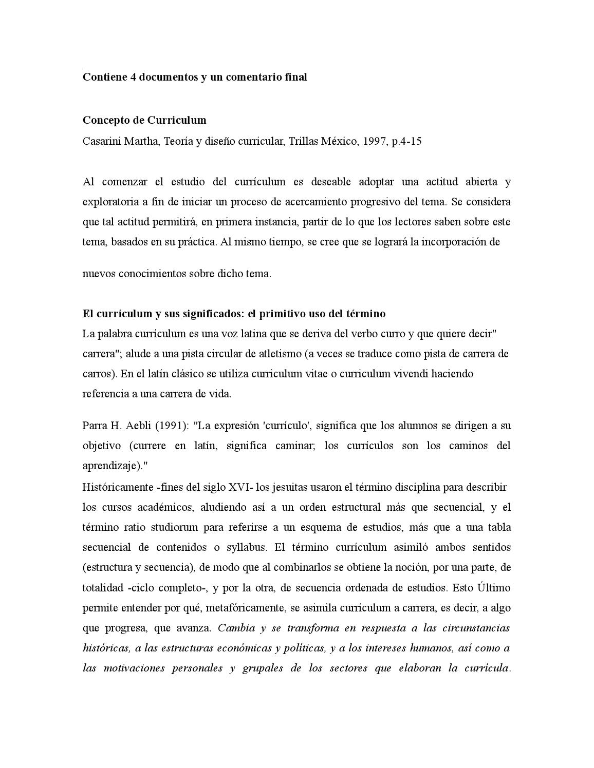 4 concepto de curriculum by gala - issuu