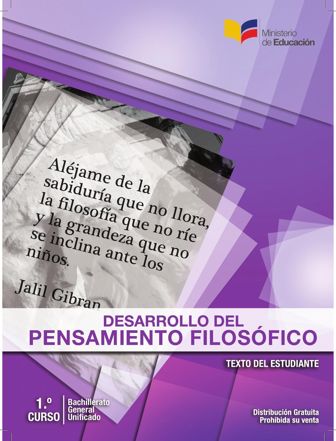 Libro desarrollo pensamiento filosofico by erick vera issuu for Ministerio del interior donde queda