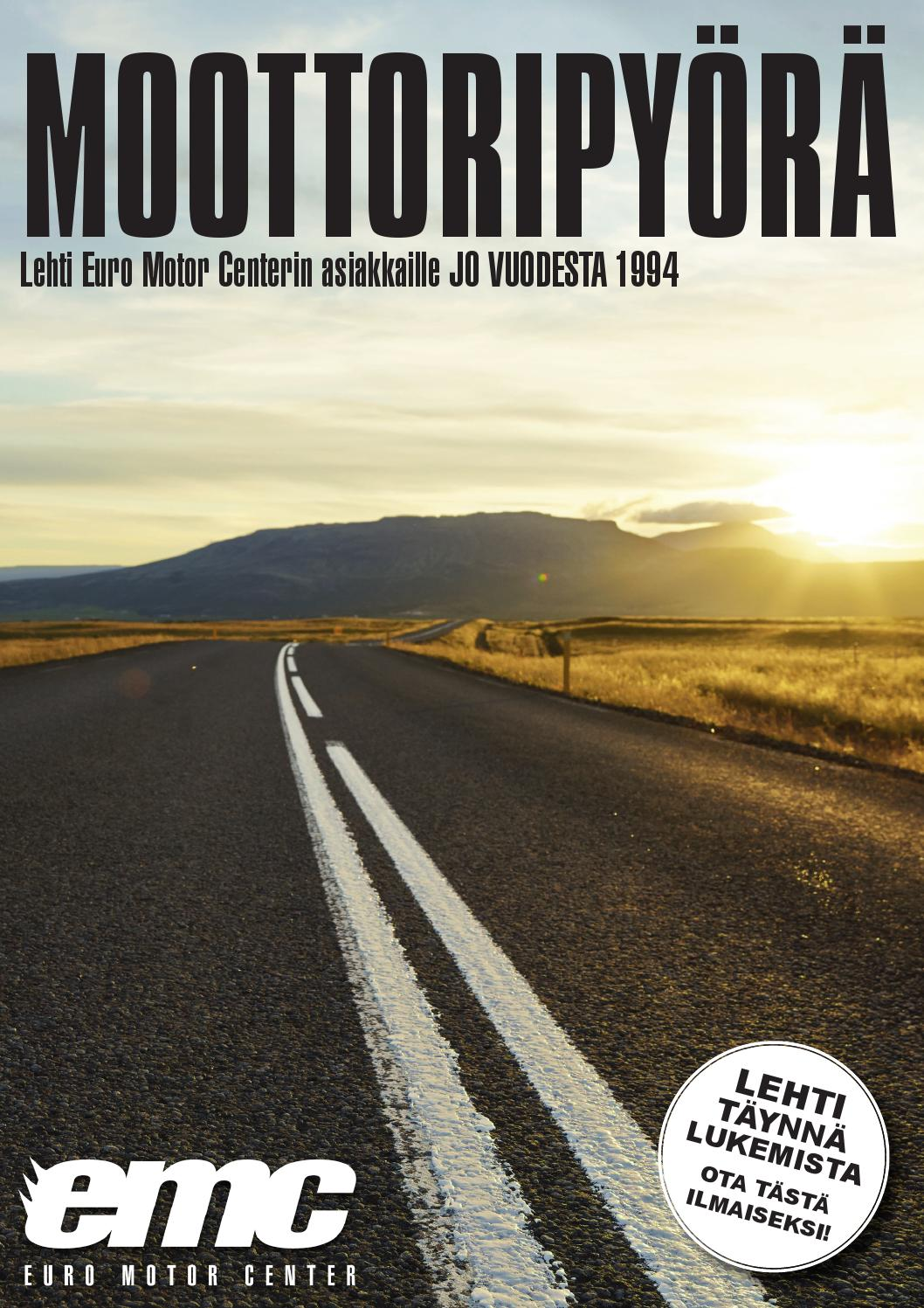Moottoripy r 2015 by euro motor center oy issuu for Sell em all motors