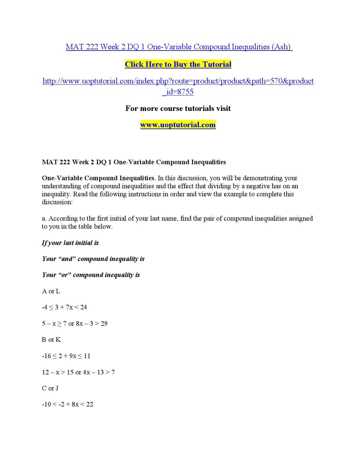 mat 222 week 2 discussion 1 Mat 222 week 3 quiz 1 in the slideshow simplifying radicals, under media in chapter 9, one specific condition to satisfy is to use the quotient rule.