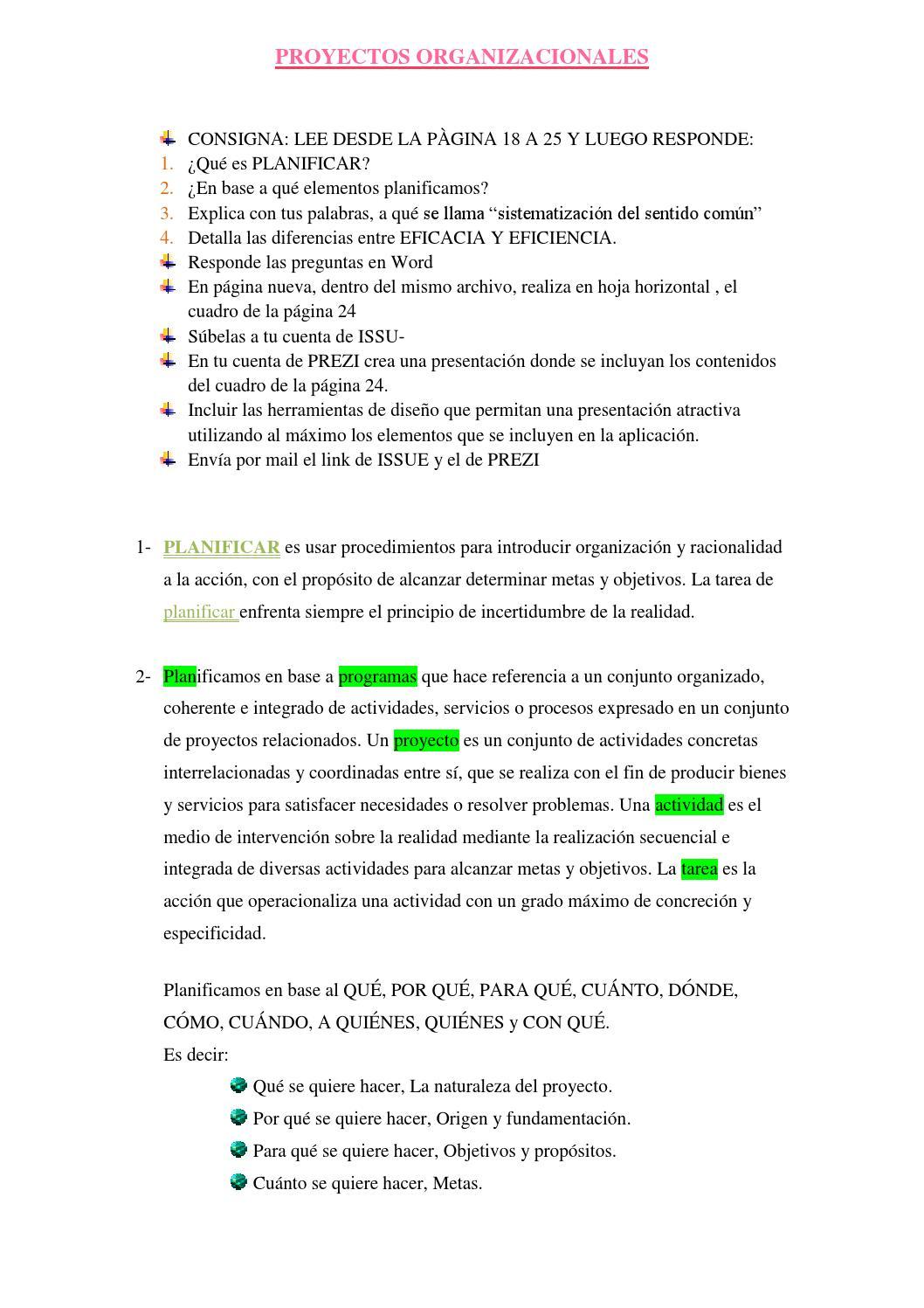 Proyectos Organizacionales Actividad 1 By Solfroschauer Issuu