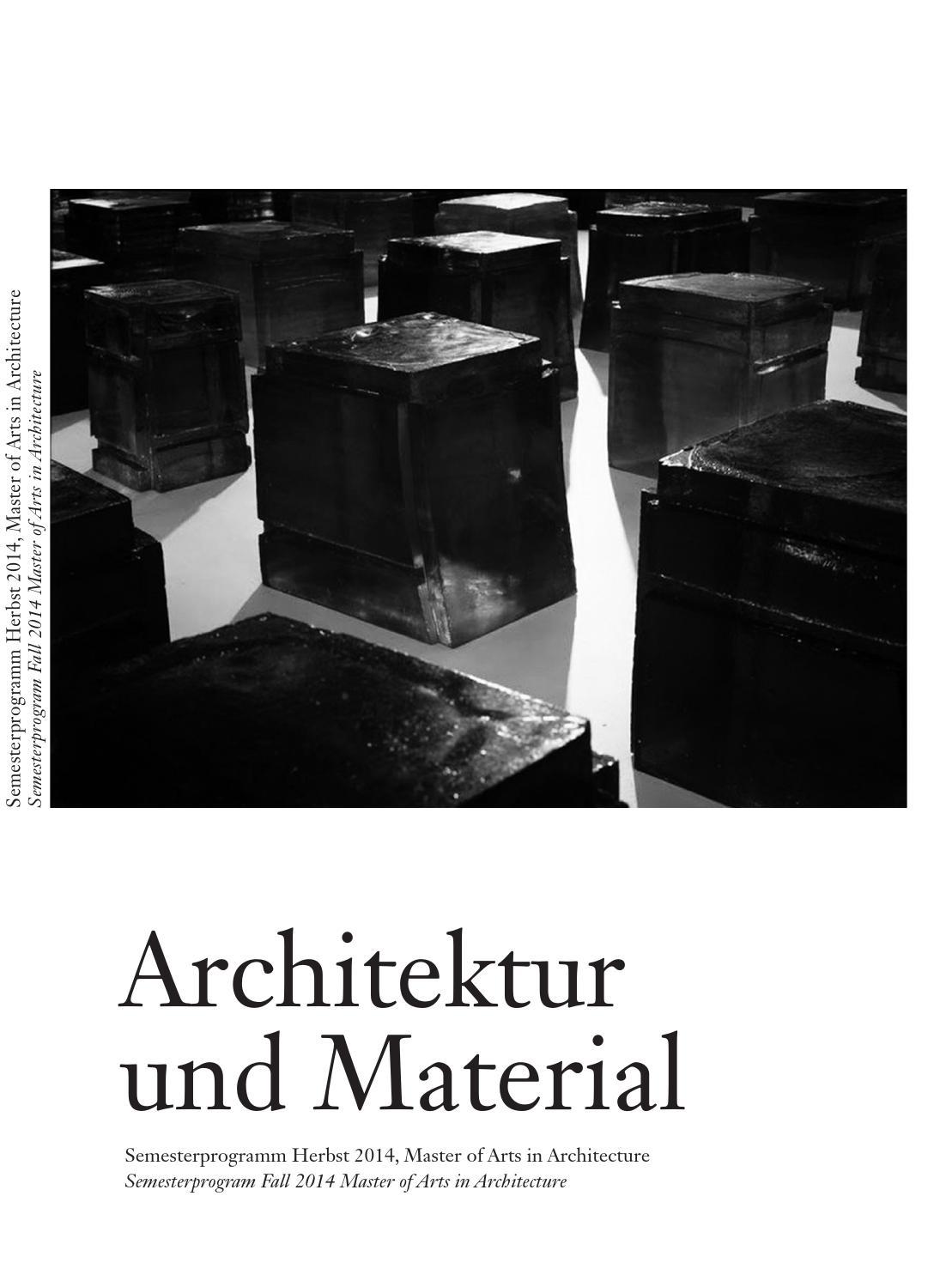 Material reader hs 14 by Master Architektur - issuu