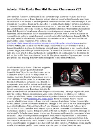 superior quality authentic quality store Acheter Nike Roshe Run Mid Homme Chaussures ZE2 by pumpedmirth8809 ...