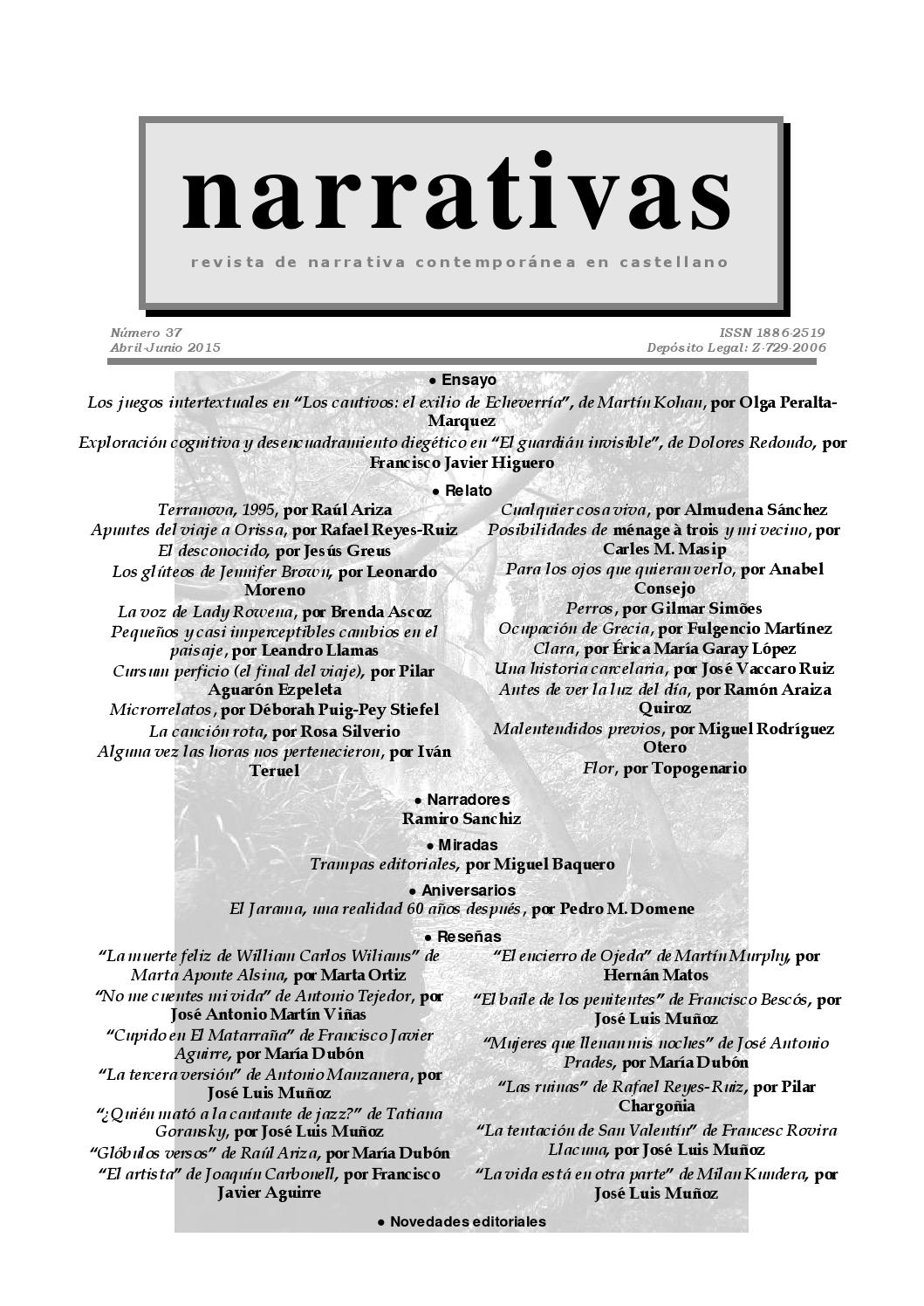 Narrativas nº 37 (abril 2015) by Leandro Llamas Pérez - issuu 9487e04d5488