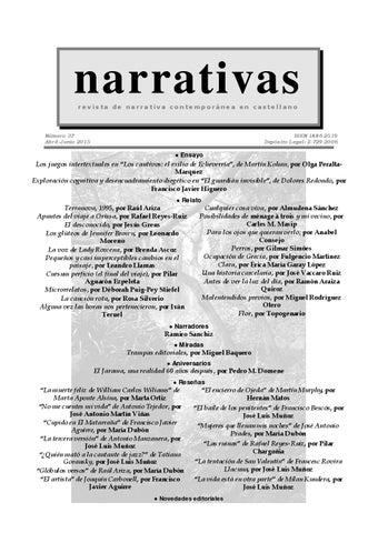 Narrativas nº 37 (abril 2015) by Leandro Llamas Pérez - issuu