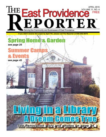 May 2015 East Providence Reporter By Dick Georgia Issuu
