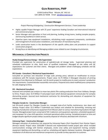 Glen robertson resume jan 2015 by Accra Consulting Inc. - issuu