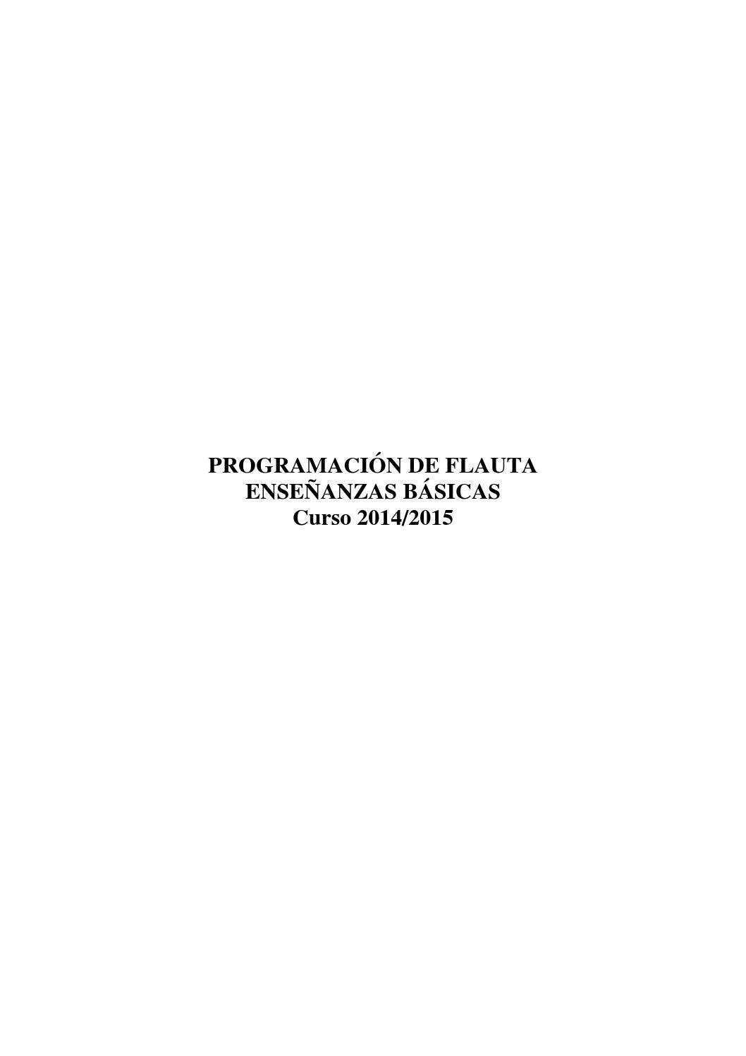 Programaciones Viento Madera By Conservatorio Profesional