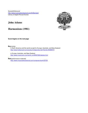 Adams HARMONIUM by ScoresOnDemand - issuu