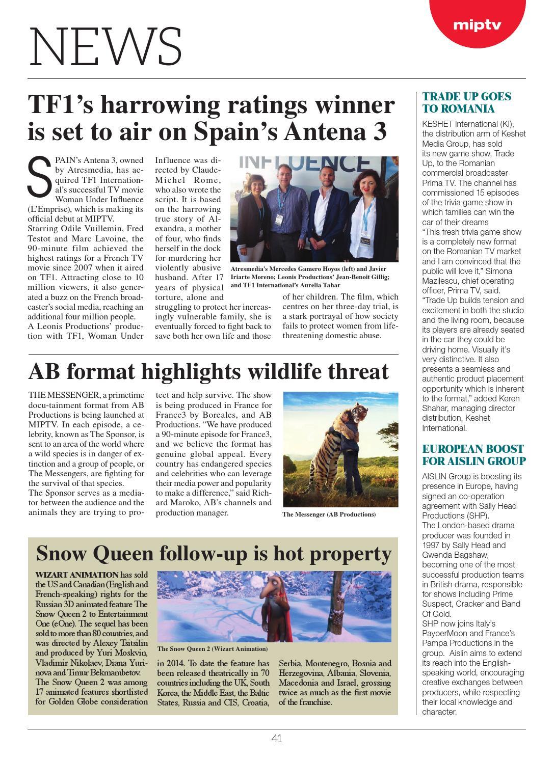 Miptv 2015 news 3 by MIPMarkets - issuu