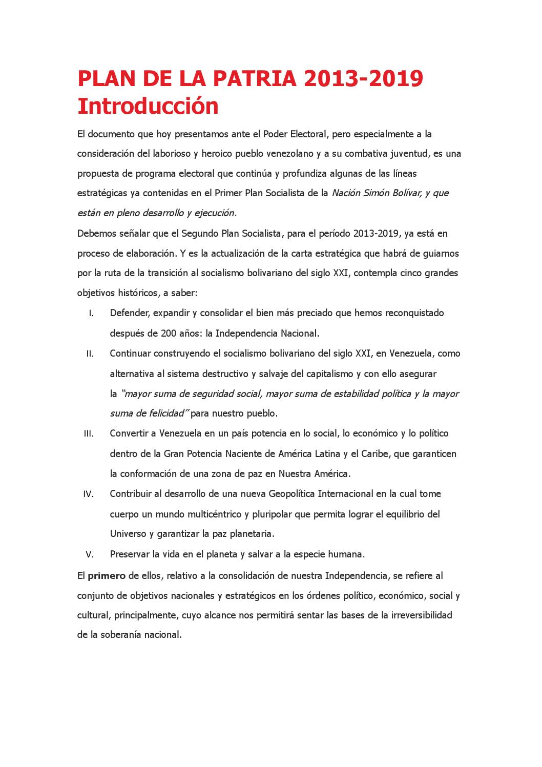 Plan de la patria 2013 by robert castillo - issuu