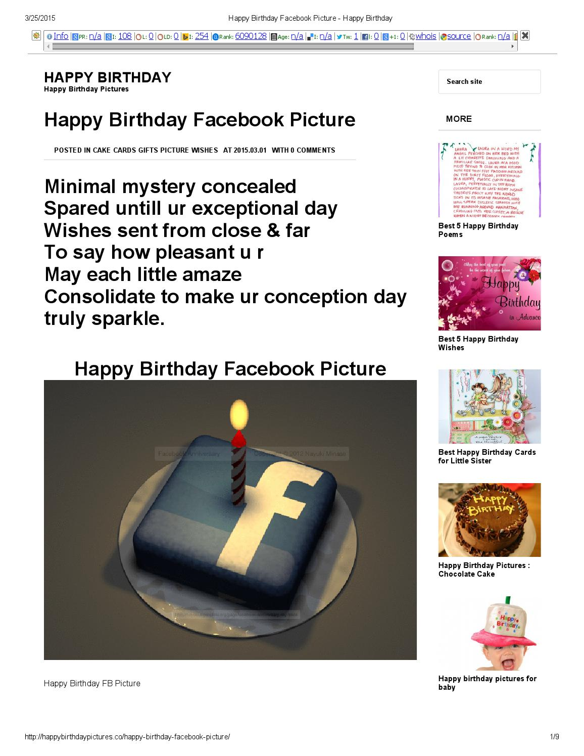 Happy Birthday Facebook Picture By Anwarul Kayum Chy