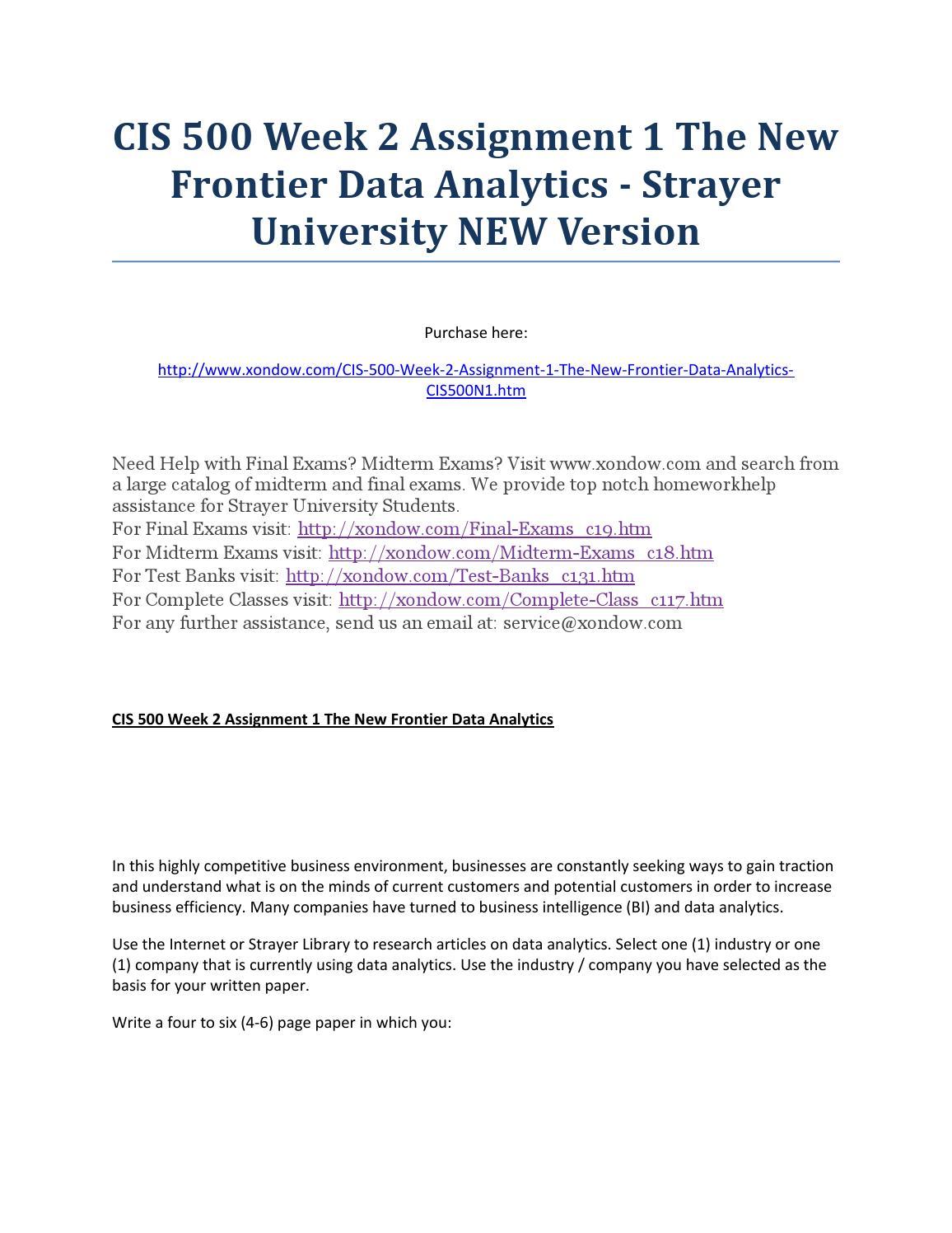 CIS 500 Assignment 1 Predictive Policing (Strayer Course)