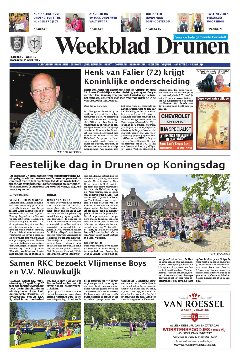 Weekblad Drunen 15 04 2015 By Uitgeverij Em De Jong Issuu