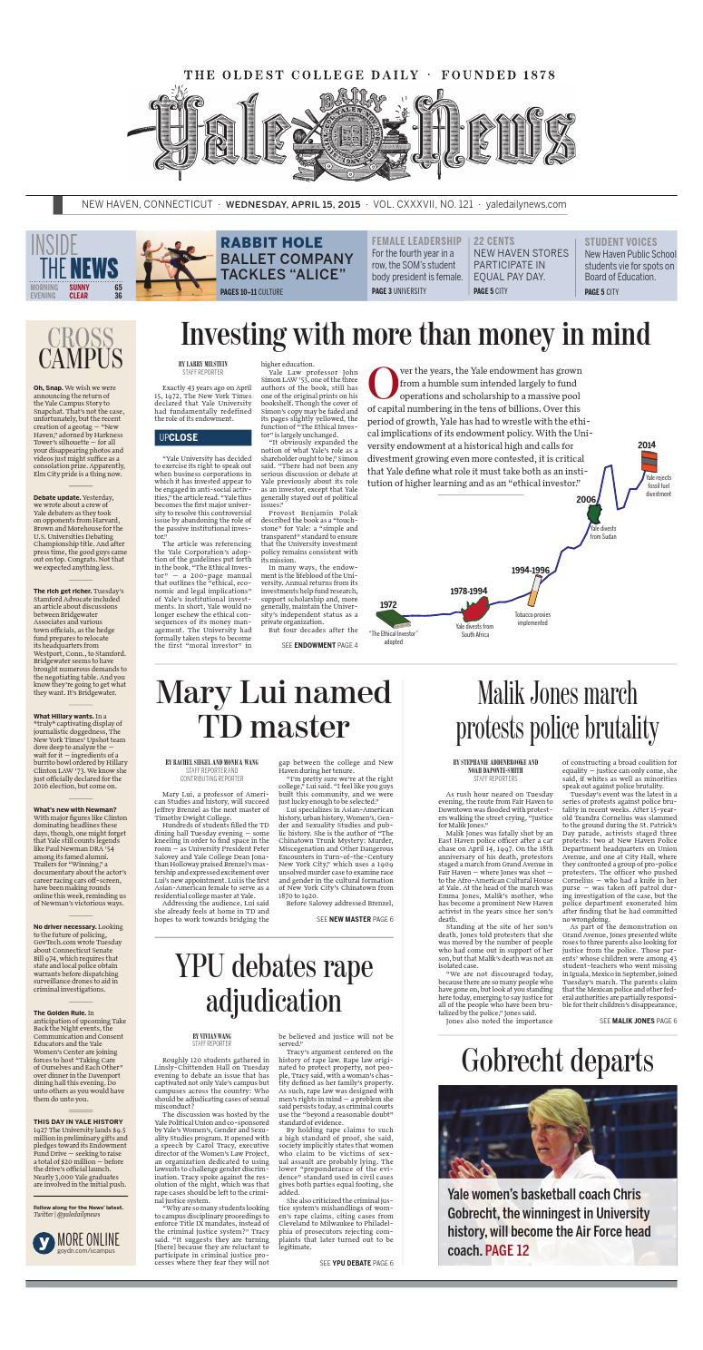 ce029bdc3 Today s Paper by Yale Daily News - issuu