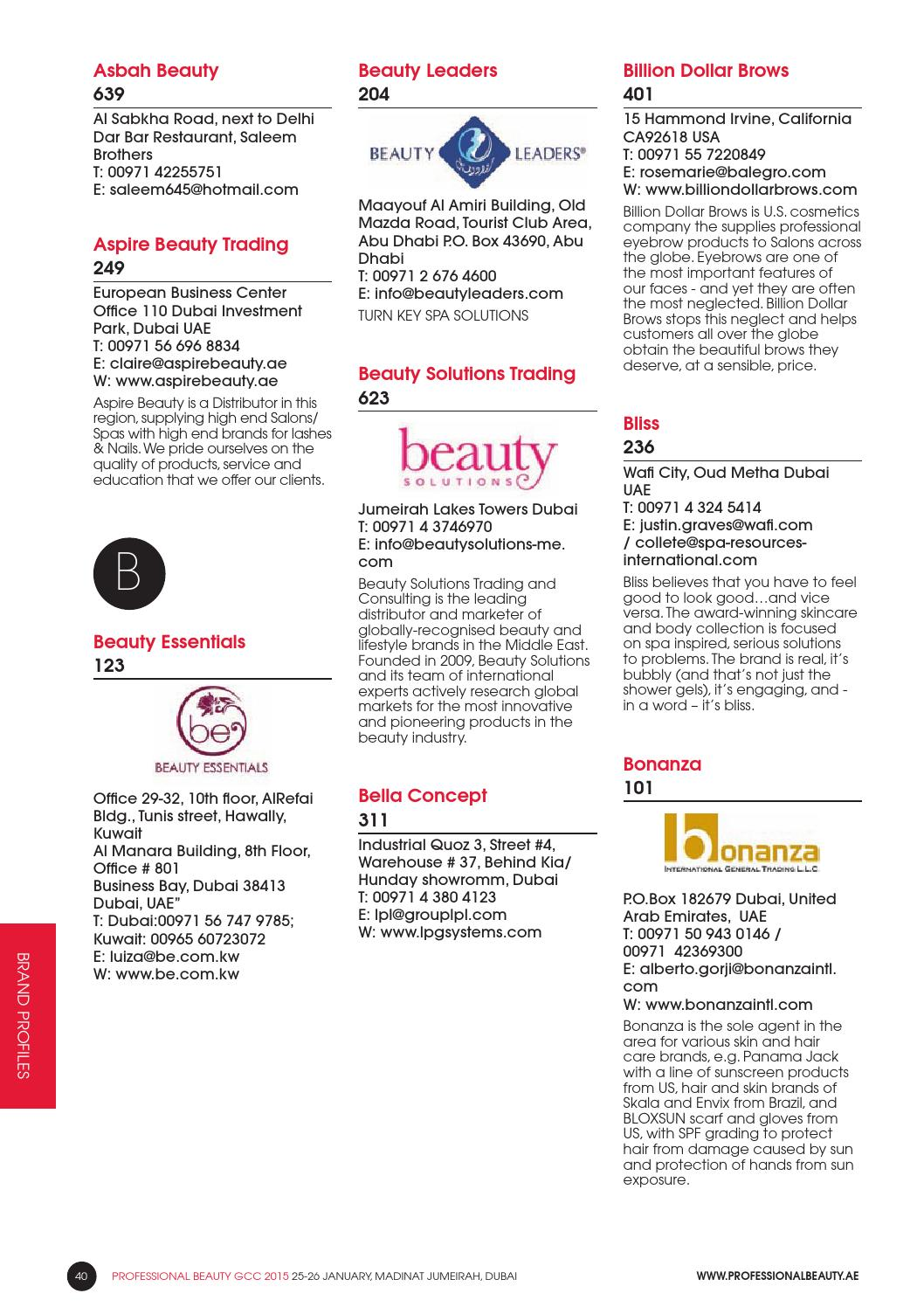 Professional Beauty GCC 2015 - Show Guide by Professional Beauty GCC