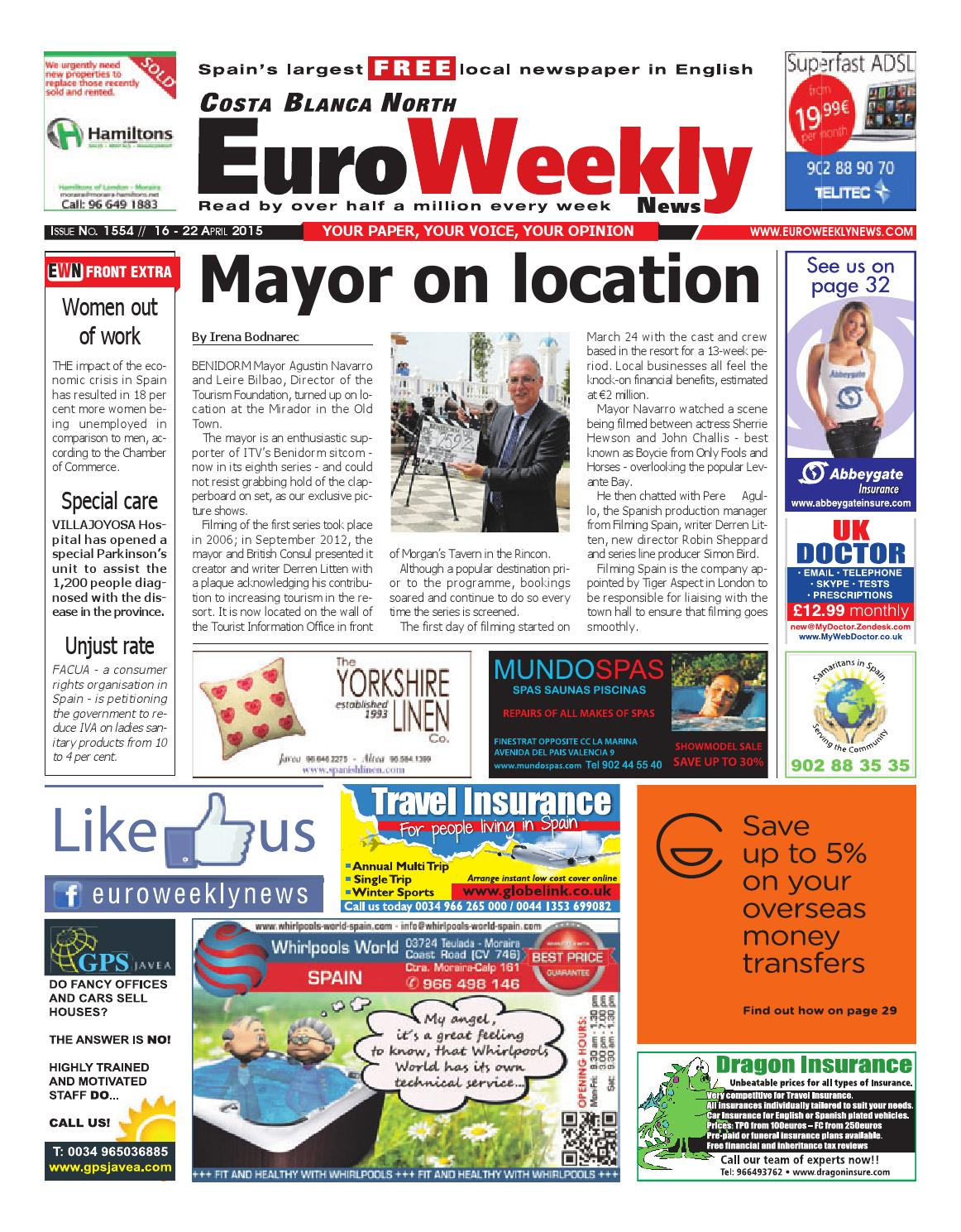 Euro Weekly News Costa Blanca North 16 22 April 2015 Issue  # Muebles Oliva Cartagena