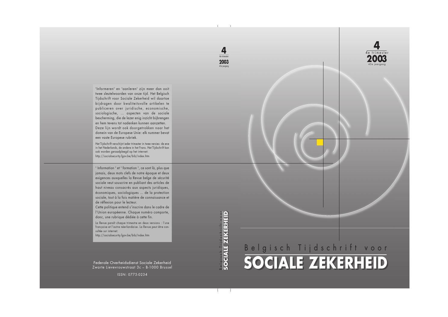 Btsz Nummer 42003 By Fps Social Security Issuu