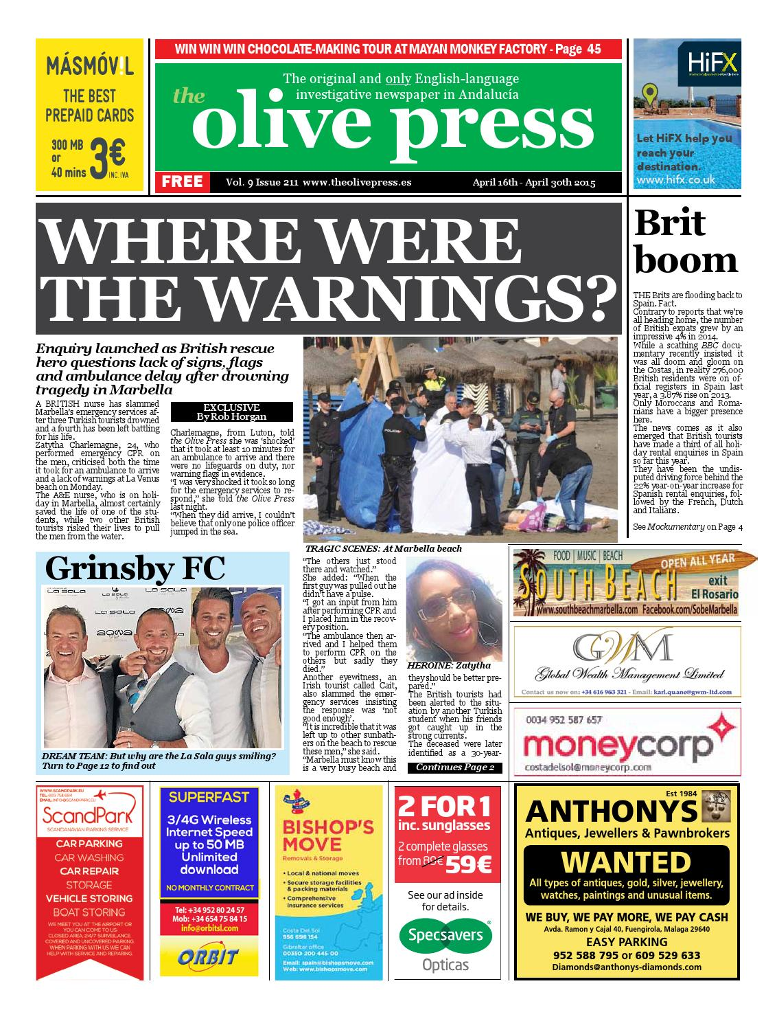 Olive Press Newspaper Issue 211 By Olive Press Newspaper Spain  # Muebles Qka Vigo