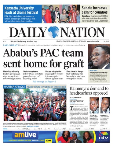 Daily nation apr 15th 2015 by HABA KWA HABA - issuu