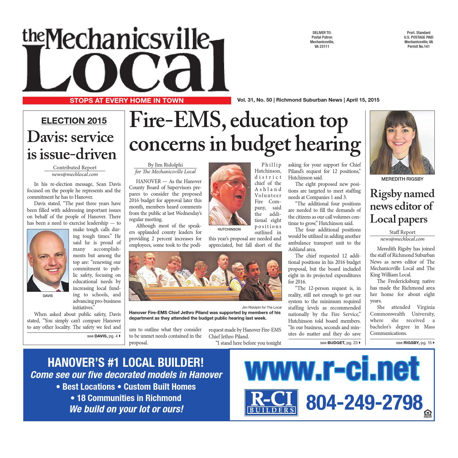 04/15/2015 by The Mechanicsville Local - issuu