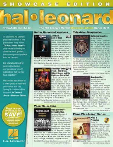 Spring 2015 Hl Showcase Herald By Hal Leonard Corporation Issuu