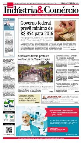 Curitiba, quinta-FEIRA, 16 DE abril de 2015   Ano XXXVIiI   Edição nº 9278    R  2,00 7bbd9e0fd9