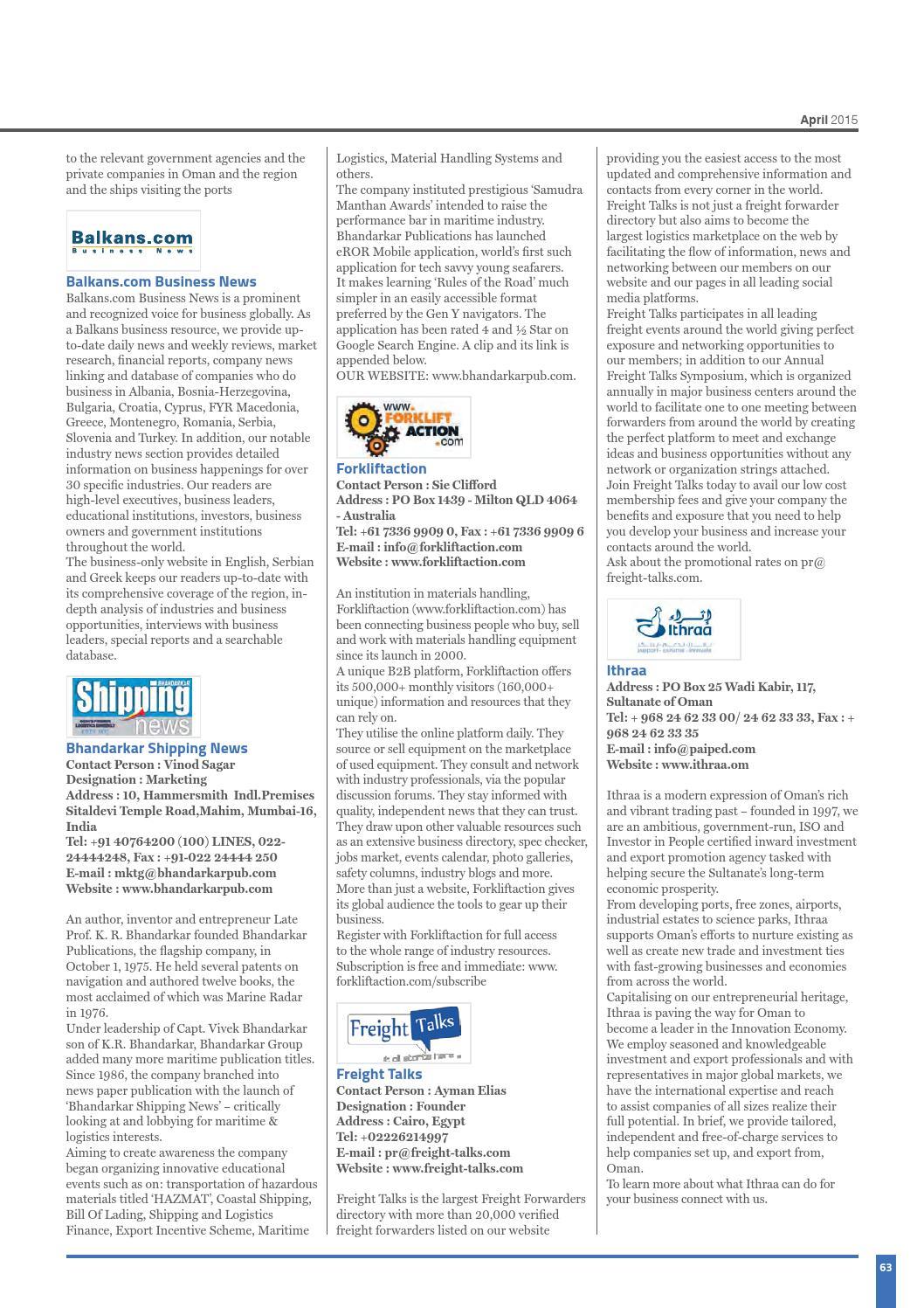 Oman Logistics Magazine for GCC Supply Chain & Logistics