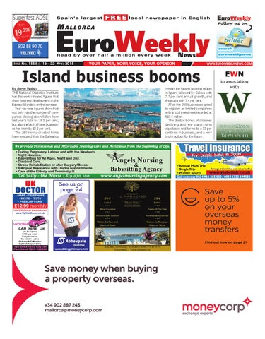 Euro weekly news mallorca 16 22 april 2015 issue 1554 by euro page 1 fandeluxe Gallery