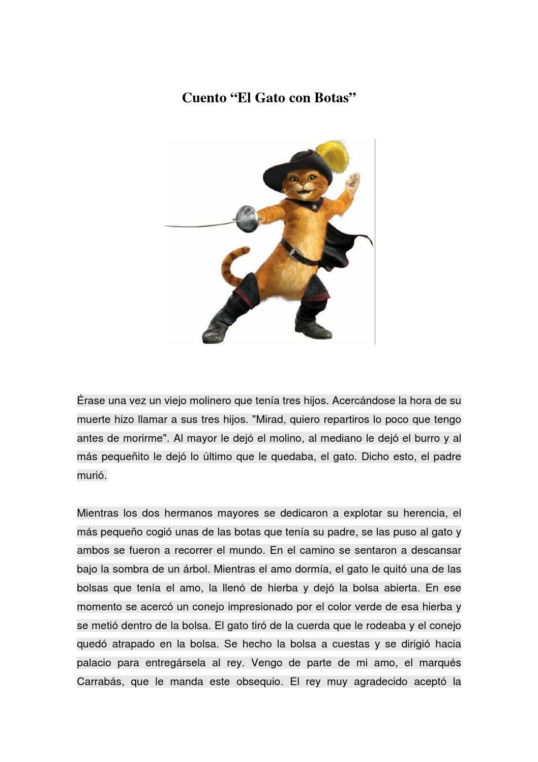 Cuento El Gato con Botas by Sandra - issuu