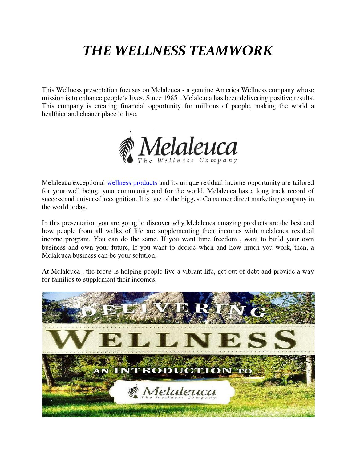 The Wellness Teamwork By Gregorysergio Issuu