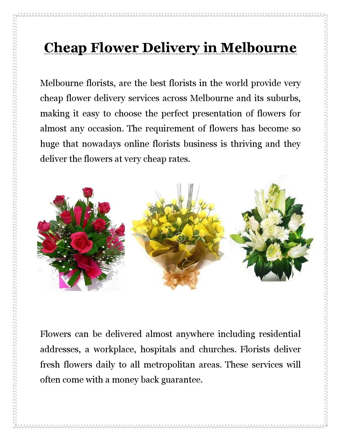 Cheap flower delivery in melbourne by thanks a bunch florist issuu izmirmasajfo