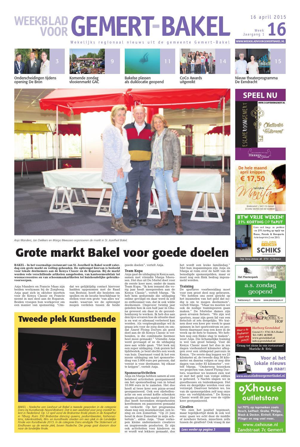 6a5978460db Weekblad voor gemert bakel wk16 by Das Publishers! - issuu