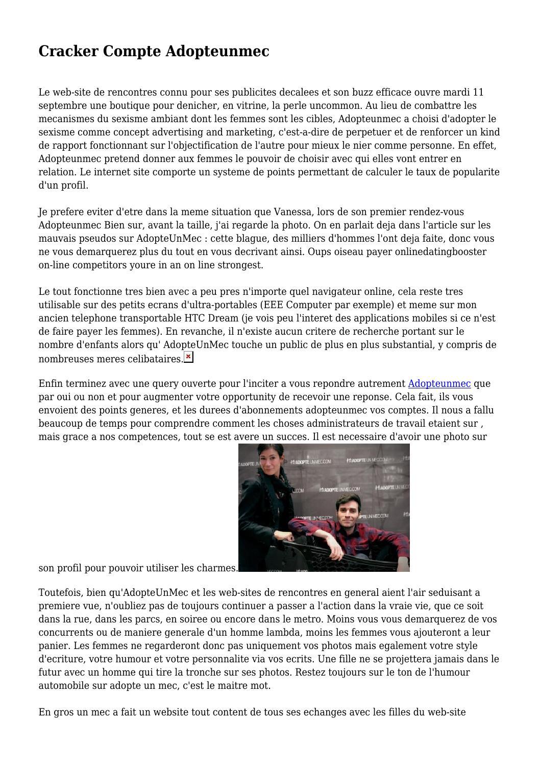Adopteunmec site web
