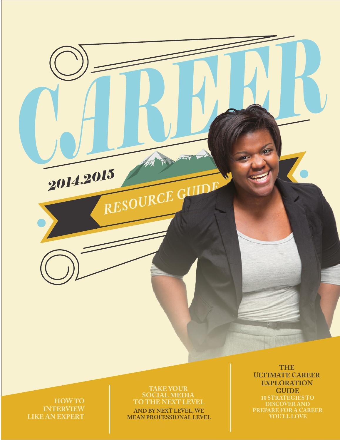 nau career resource guide 2014 2015  cover and pages by