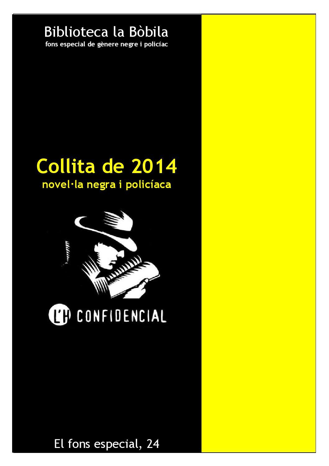 Collita De 2014 Novel La Negra I Policiaca By Biblioteca De  # Muebles Salvany Teixido